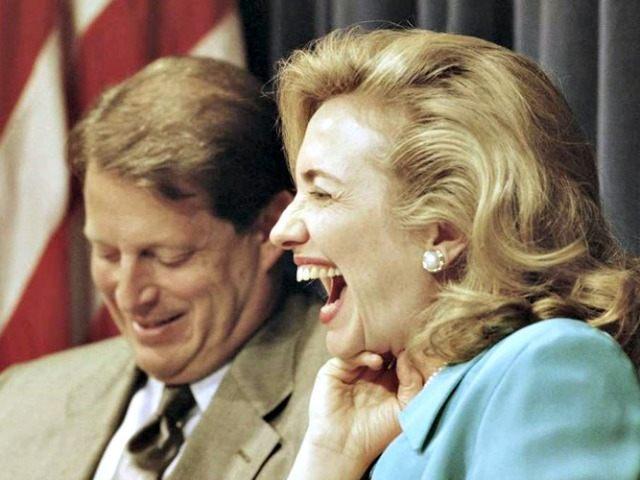Al Gore and Hillary Clinton AP