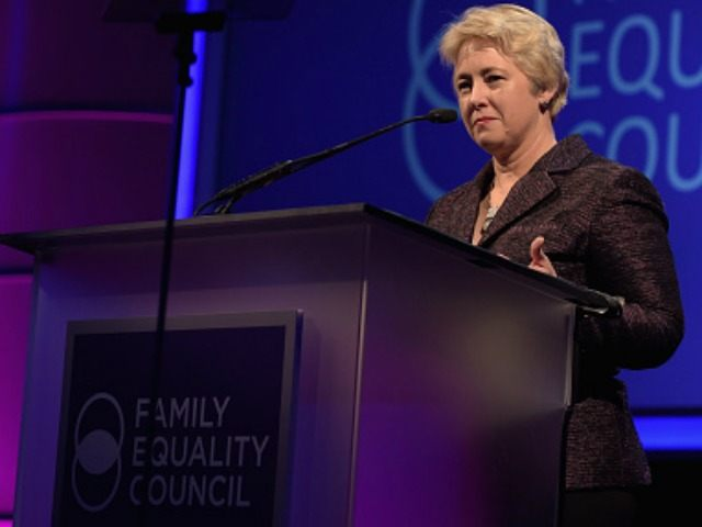 Mayor of Houston Annise Parker speaks onstage during the Family Equality Council's 2015 Los Angeles Awards dinner at The Beverly Hilton Hotel on February 28, 2015 in Beverly Hills, California.