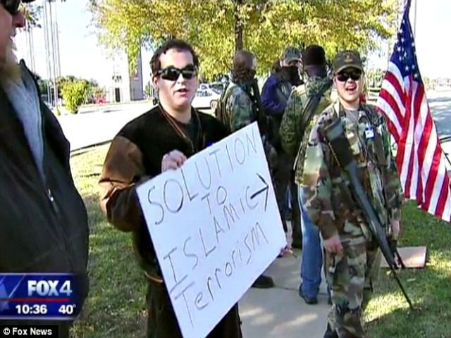 Armed protest at Texas mosque