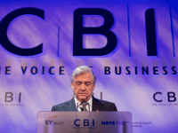 Confederation of British Industry (CBI) President Sir Michael Rake addresses delegates at the CBI's annual conference in central London, on November 4, 2013.