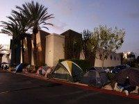 Black Friday camping (Damian Dovarganes / Associated Press)