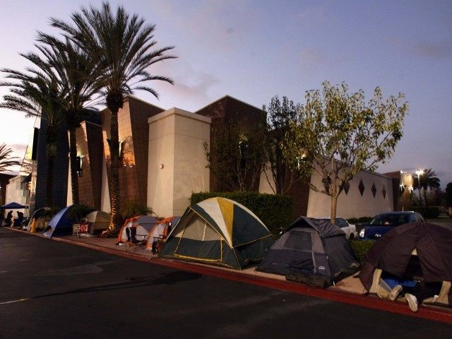 Black Friday camping (Damian Dovarganes / Associated Press)