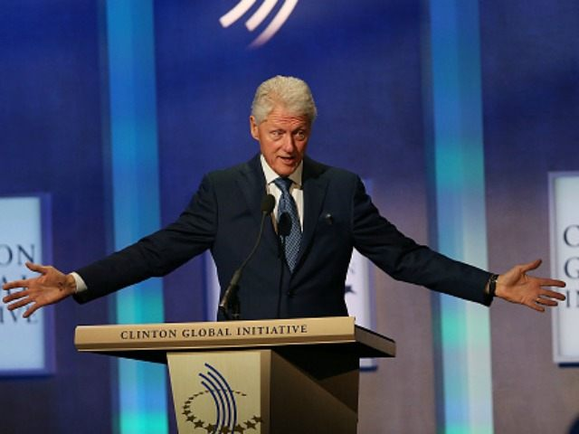 Former U.S. President Bill Clinton opens the annual Clinton Global Initiative (CGI) meeting on September 27, 2015 in New York City. The event, which coincides with the General Assembly at the United Nations, gathers global leaders, activists and business people to try and to bring solutions to the world's most …