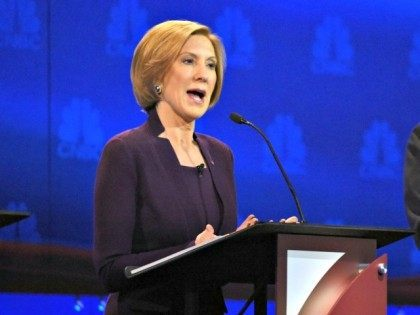 Carly Fiorina at Colorado Debate AP