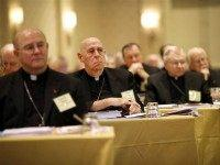 United States Conference of Catholic Bishops' annual fall meeting, Monday, Nov. 16, 2015, in Baltimore. (