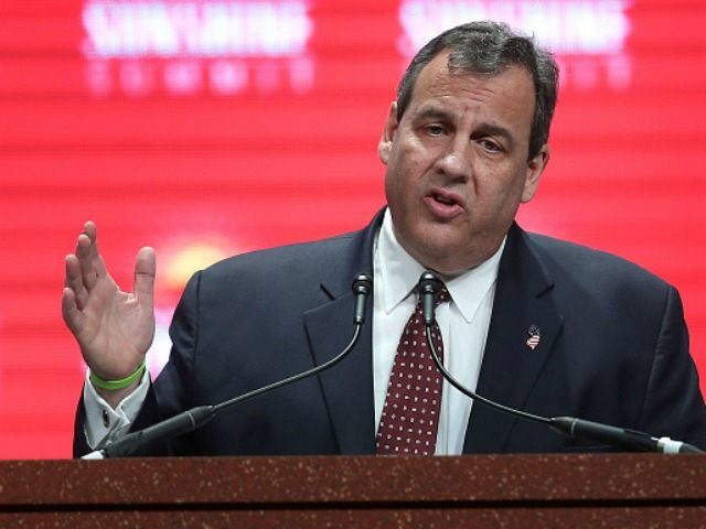 Republican presidential candidate New Jersey Governor Chris Christie speaks during the Sunshine Summit conference being held at the Rosen Shingle Creek on November 14, 2015 in Orlando, Florida. The summit brought Republican presidential candidates in front of the Republican voters.