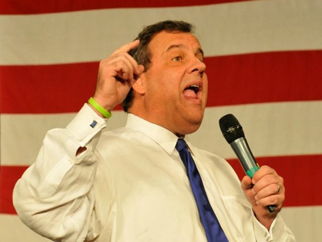 Republican presidential candidate and New Jersey Gov. Chris Christie, speaks at the Growth and Opportunity Party, at the Iowa State Fair in Des Moines, Iowa, Saturday October 31, 2015. With just 93 days before the Iowa caucuses Republican hopefuls are trying to shore up support amongst the party. (Photo by