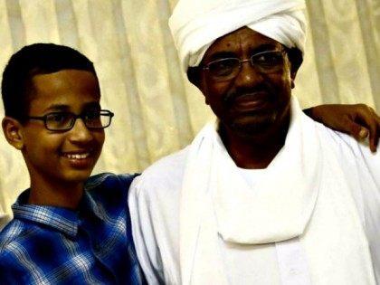 Clock Boy with Sudanese Bashir  Ashraf ShazlyAFP