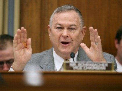 House Science, Space and Technology Committee member Rep. Dana Rohrabacher (R-CA) questions witnesses from NASA, the Department of Defense and the White House during a hearing in the Rayburn House Office Building on Capitol Hill March 19, 2013 in Washington, DC. The committee asked government and military experts about efforts …