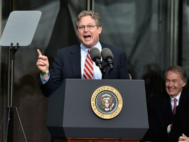 Edward M. Kennedy Jr. speaks at the Dedication Ceremony at Edward M. Kennedy Institute for the United States Senate on March 30, 2015 in Boston, Massachusetts.