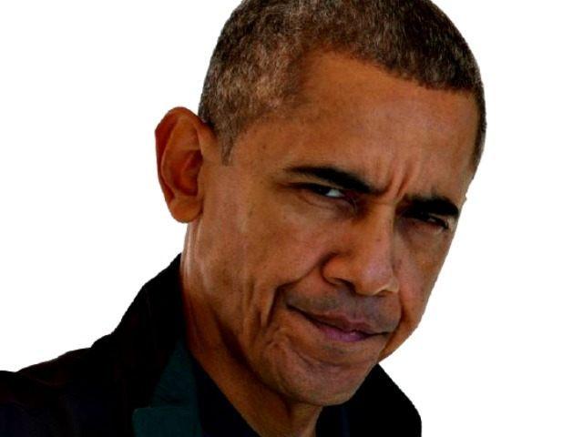 Frowning Obama AP