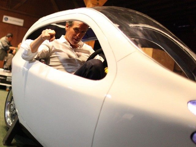 Gavin Newsom little car (Max Morse / Getty)