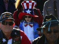 Veterans Day Commemoration Held At National World War II Memorial In DC