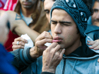 PICS: Economic Migrants Sew Lips Shut, Demand To Be 'Shot' In Protest At European Border