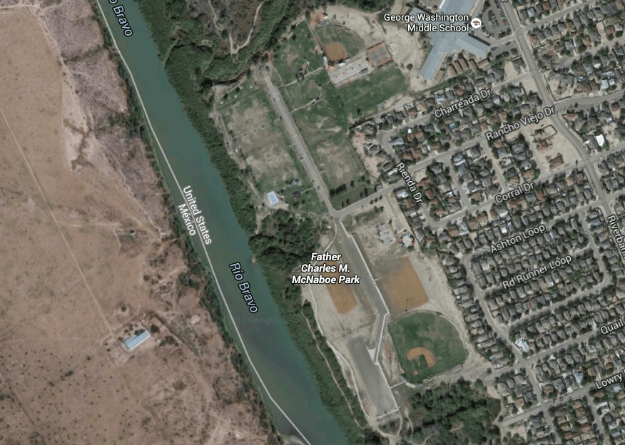 Photo: Google Earth Map of Father McNaboe Park
