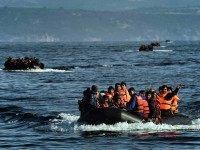 Greek refugee boat Leros (Aris Messins / AFP / Getty)