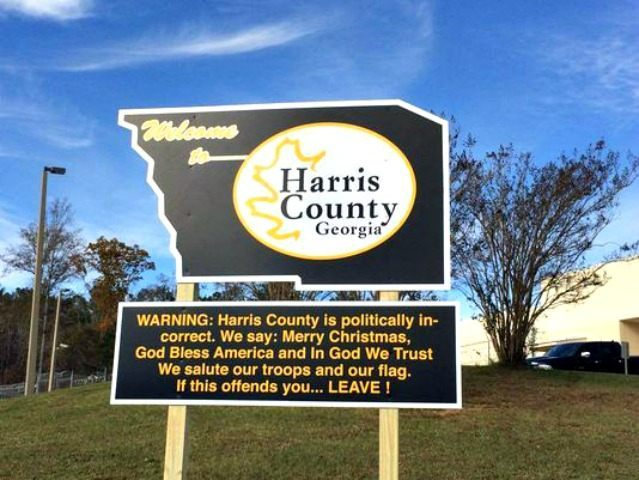 Sheriff Pays Out of Own Pocket for 'Politically Incorrect' Sign Warning the Offended to 'LEAVE!'