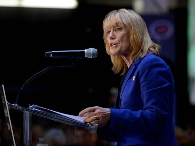 New Hampshire Gov. Maggie Hassan speaks at the No Labels Problem Solver convention October 12, 2015 in Manchester, New Hampshire. Eight presidential candidates addressed the bipartisan event which included many undecided New Hampshire voters. (Photo by