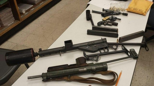 Homeless man guns (LASD / Associated Press)