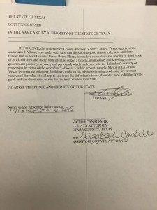 Starr County Criminal Complaint