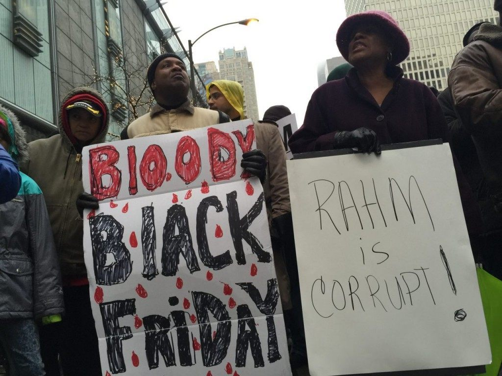Black Friday Protest Hits Rahm Emanuel (Lee Stranahan / Breitbart News)