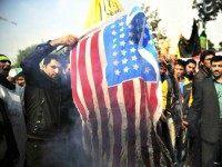 Iranians Burn US Flag APEbrahim Noroozi