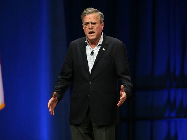 publican presidential candidate former Florida Gov. Jeb Bush speaks during the Sunshine Summit conference being held at the Rosen Shingle Creek on November 13, 2015 in Orlando, Florida. The summit brought Republican presidential candidates in front of the Republican voters. (Photo by )
