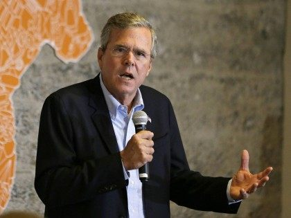 Jeb Bush at California startup (Eric Risberg / Associated Press)