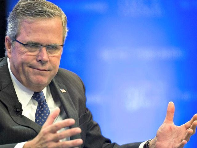 Jeb Bush open palms