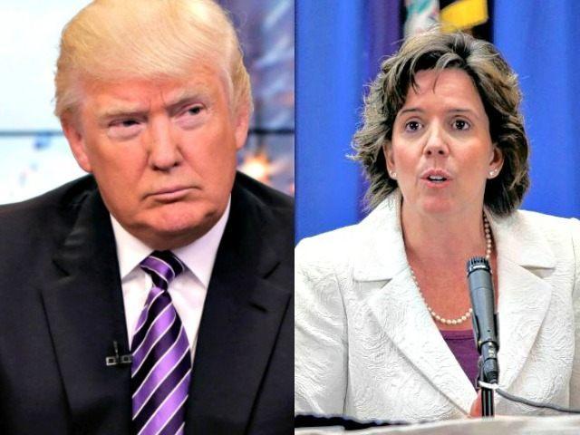 Jennifer Horn and Trump AP Photos