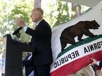 Jerry Brown California Flag (Reed Saxon / Associated Press)
