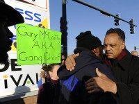 Jesse Jackson at Laquon McDonald protest (Paul Beaty / Associated Press)