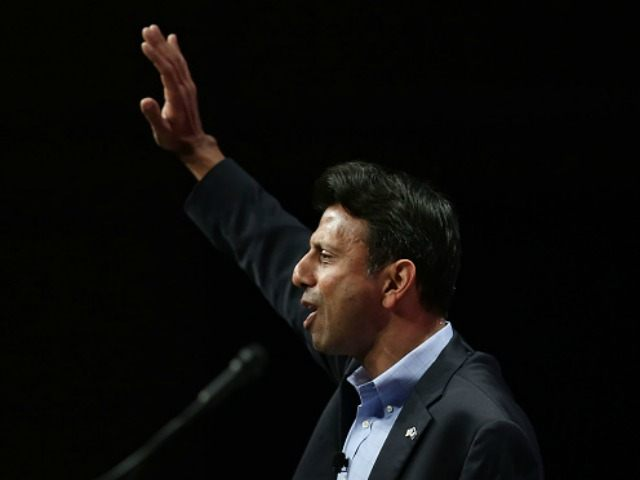 Republican presidential candidate Louisiana Governor Bobby Jindal speaks during the Sunshine Summit conference being held at the Rosen Shingle Creek on November 14, 2015 in Orlando, Florida. The summit brought Republican presidential candidates in front of the Republican voters. (Photo by