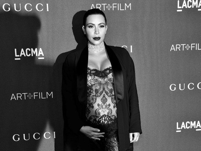 Kardashian LACMA BW (Mike Windle / Getty)