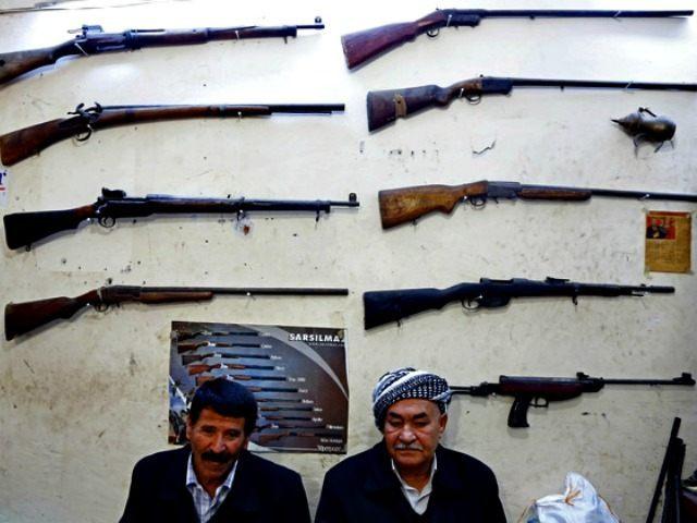 Kurdish gun shop