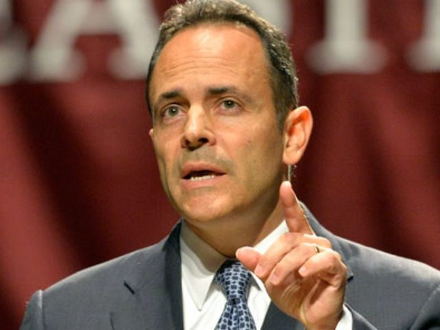 Matt Bevin responds to a question during the League of Women Voters debate, Sunday, Oct. 25, 2015, in Richmond, Ky. (