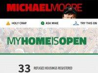Michael Moore Launches #MyHomeIsOpen Website to encourage Americans to House Refugees