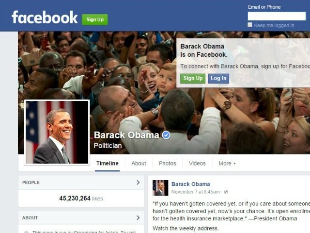 Obama Launches Facebook Page