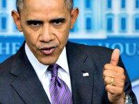 Obama Thumbs Up AP