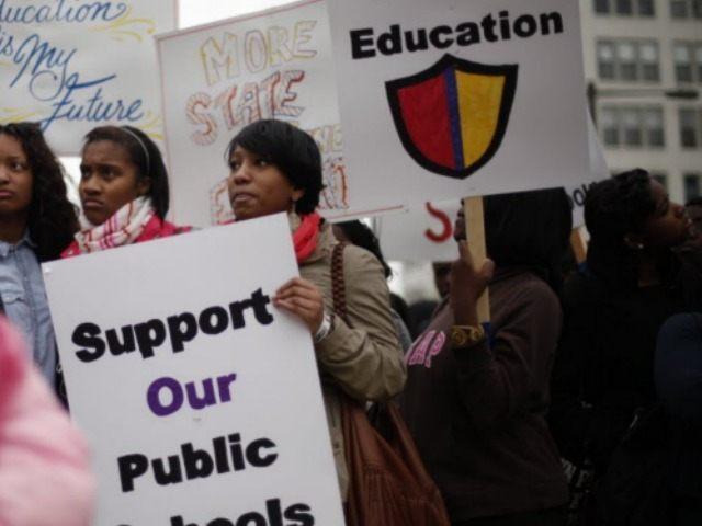 Public School Protest Sign