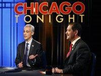 Rahm Emanuel and Jesus Chuy Garcia (Charles Rex Arbogast / Associated Press)
