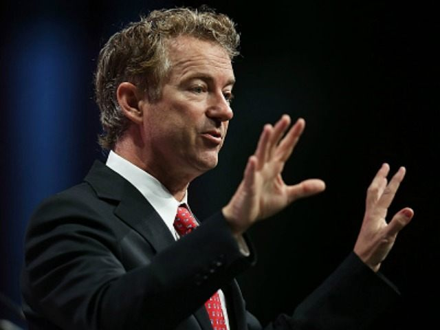 Republican presidential candidate Sen. Rand Paul (R-KY) speaks during the Sunshine Summit conference being held at the Rosen Shingle Creek on November 14, 2015 in Orlando, Florida. The summit brought Republican presidential candidates in front of the Republican voters. (Photo by )