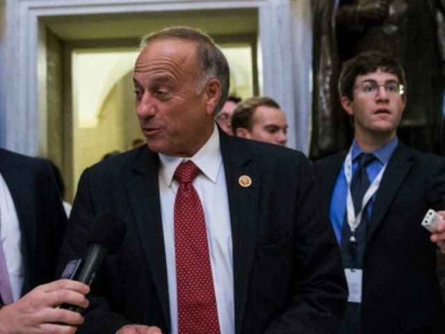 U.S. Rep. Steve King (R-IA) walks through the Capitol Building on October 15, 2013