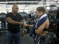 Ronda Rousey Mike Tyson AP