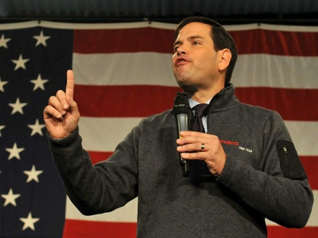 Republican presidential candidate, Sen. Marco Rubio (R-FL) speaks at the Growth and Opportunity Party, at the Iowa State Fair in Des Moines, Iowa, Saturday October 31, 2015. With just 93 days before the Iowa caucuses Republican hopefuls are trying to shore up support amongst the party.