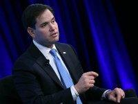 Republican Presidential candidate Sen. Marco Rubio (R-FL), speaks at the Wall Street Journal CEO Council meeting at the Four Seasons Hotel, November 16, 2015 in Washington, DC. Sen. Rubio participated in a discussion on The Next Agenda for the American Presidency. (Photo by)