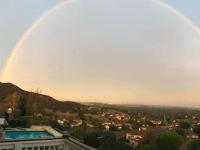 Rainbow over Hollywood Hills (Doug Addison / Twitter)