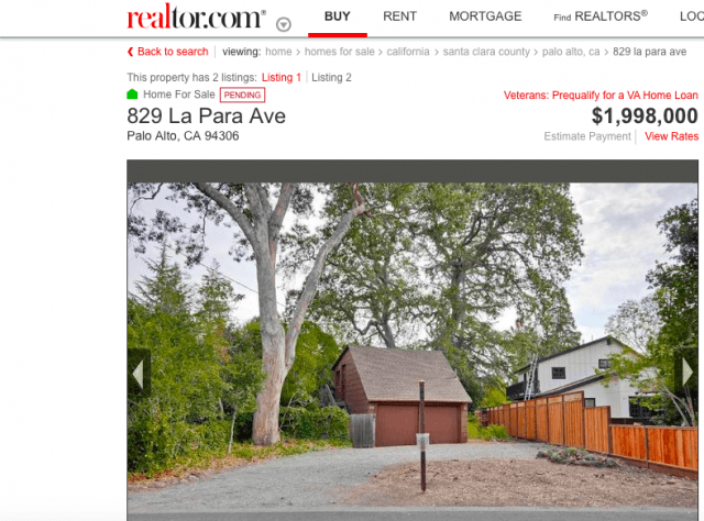 Palo Alto shack (Screenshot / Realtor.com)