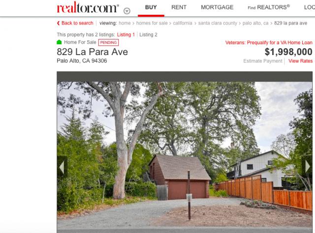 Palo Alto shack (Screenshot / Realtor.com)