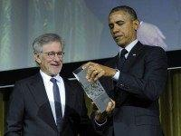 Spielberg Obama (Susan Walsh / Associated Press)